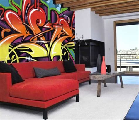 graffiti interiors home art murals and decor ideas cool graffiti living space