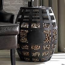 barrel cork catcher accent table wine cork crafts wine cork kits more wine enthusiast