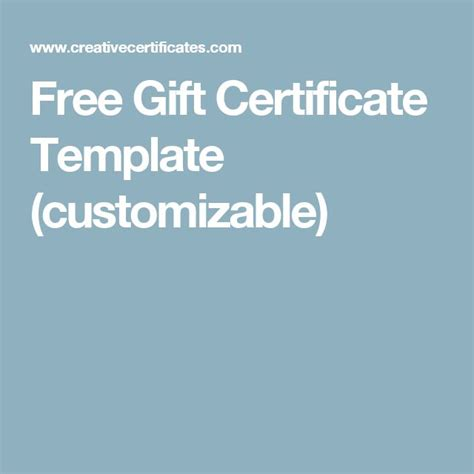 customizable certificate template 17 best ideas about gift certificate templates on