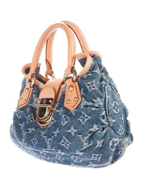 louis vuitton monogram denim pleaty bag handbags
