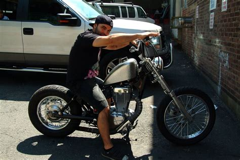 Mid Century Style Home by Hand Crafted 1986 Suzuki Savage Ls650 Custom Bobber By
