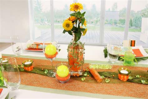 tischdeko orange tischdeko orange gr 252 n fest tischdekorationen