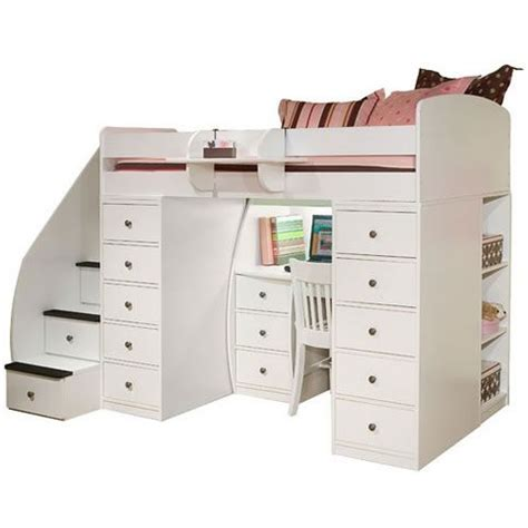 berg loft bed berg furniture sierra twin loft bed with 2 chests