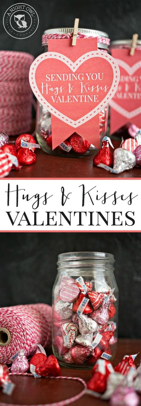 gift for valentines together hugs and kisses jar valentines jars put together
