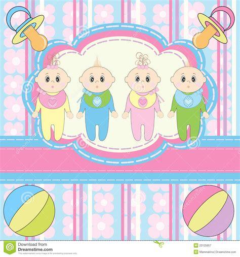 imagenes para amigas recien conocidas tarjeta de felicitaci 243 n para cuatro beb 233 s reci 233 n nacidos