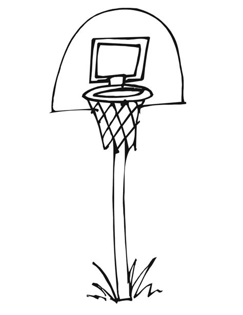 basketball backboard coloring page pin basketball hoop coloring pages image 2 on pinterest