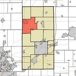 pipe creek map file map highlighting pipe creek township county