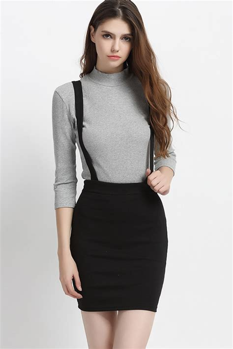 Overall Skirt By Jlty Fashion high waisted overall skirt fashion skirts