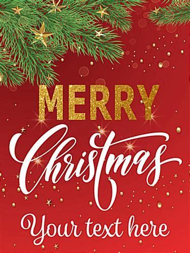 merry christmas retail poster seasonal banner