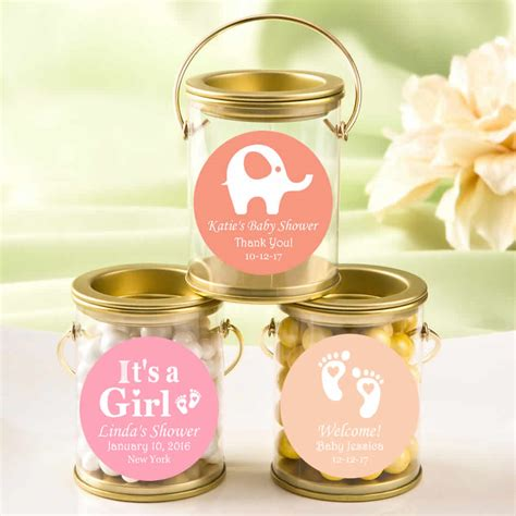 Gold Baby Shower Favors by Creative Baby Shower Favors Personalized Gold Mini Paint