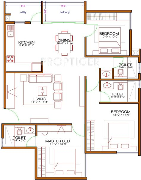 laurel floor plan 1333 sq ft 3 bhk 3t apartment for sale in nd laurel