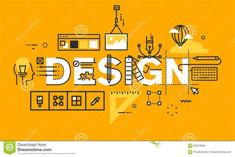 graphic design solutions thin line flat design banner of graphic design solutions