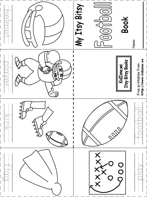 dltk football coloring page itsy bitsy book football