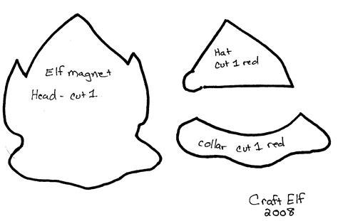 elf crafts template