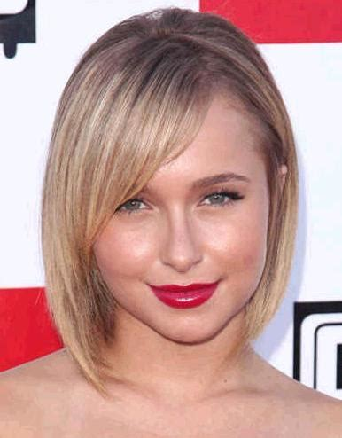 haircuts for faces with pointed chin hairstyles that flatter your face chin length bob for
