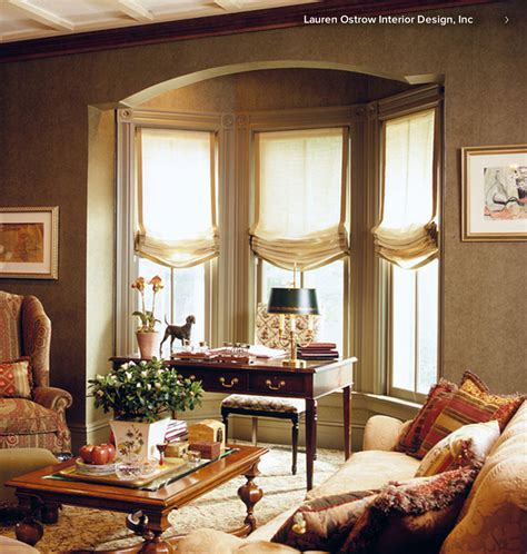 Window Valance Ideas relaxed roman shades in a bay window simple sewing projects