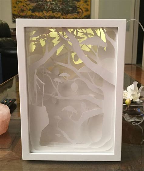 Paper Cut Light Box by Papercut Lightboxes That I Cut From One Continuous