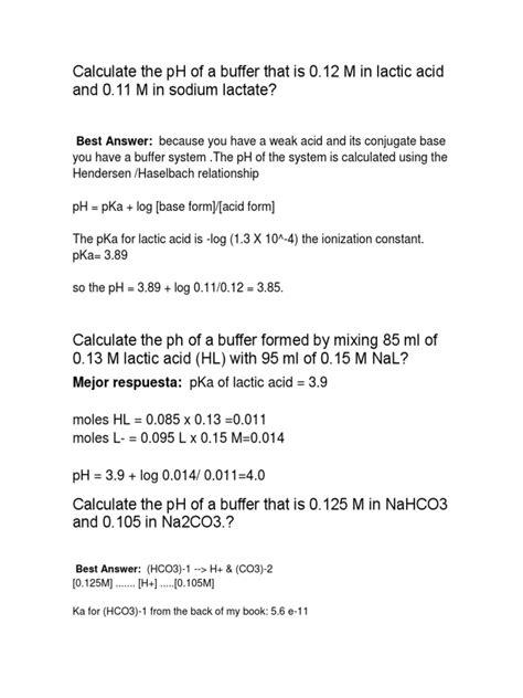 Quimica Buffer | Buffer Solution | Acid Dissociation Constant