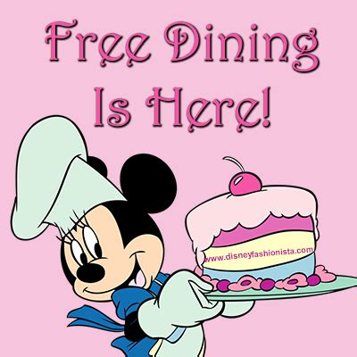 fashionable deal, free dining is here!