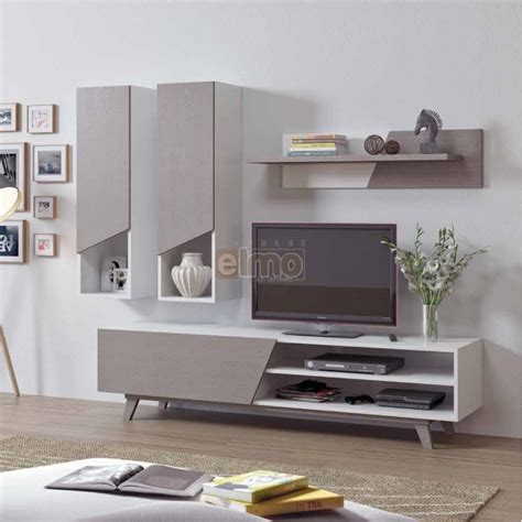 Composition Meuble Tv by Meuble Tv Composition Tv Contemporain Bois Gris Blanc Line