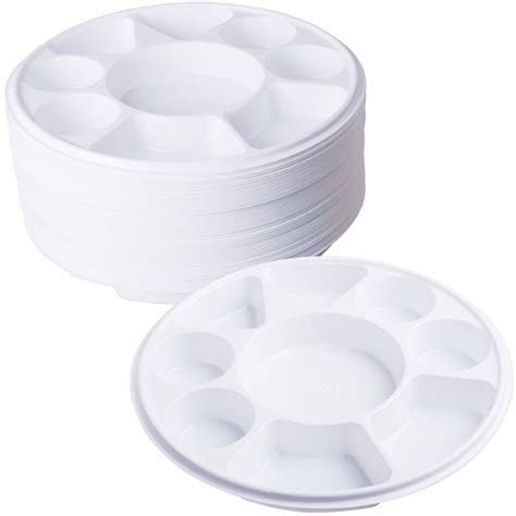Disposable Plates With Sections by Compartment Plastic Dinner Plates 50 Pcs Home Food