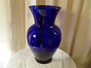 Vintage Blue Glass Vases Vintage Cobalt Blue Glass Vase