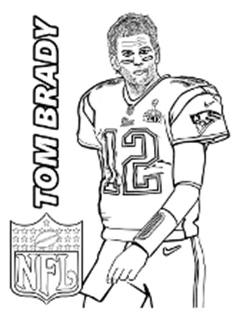 Coloring Pages With Famous People Actors Sportsmen Tom Brady Coloring