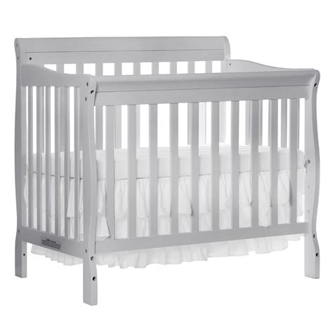 Dream On Me Aden 4 In 1 Convertible Mini Crib In Gray 628 G On Me Aden Mini Crib