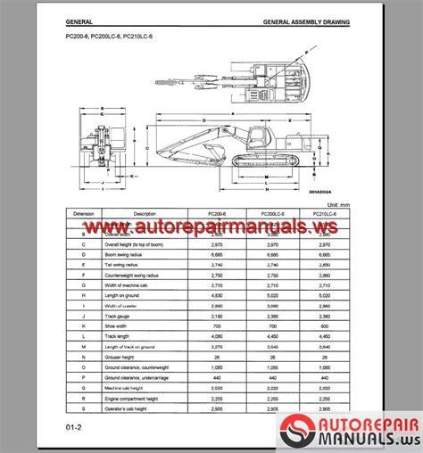Shop Manual Komatsu Excavator Pc200 8mo keygen autorepairmanuals ws komatsu hydraulic excavator pc200 250lc 6 shop manual