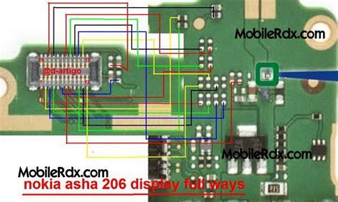 Lcd Hp Nokia Asha 206 nokia 206 lcd ways jumper