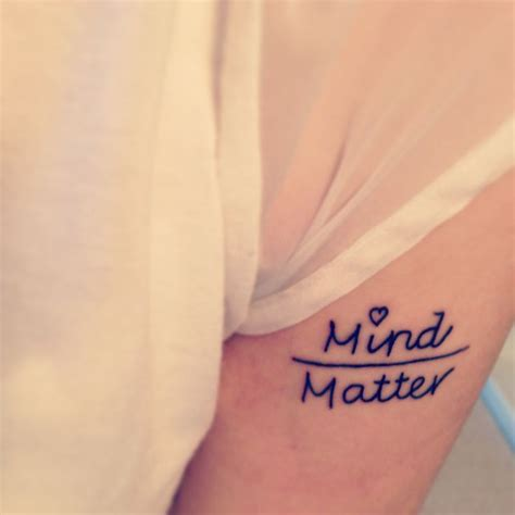 mind over matter tattoos 25 unique mind matter ideas on