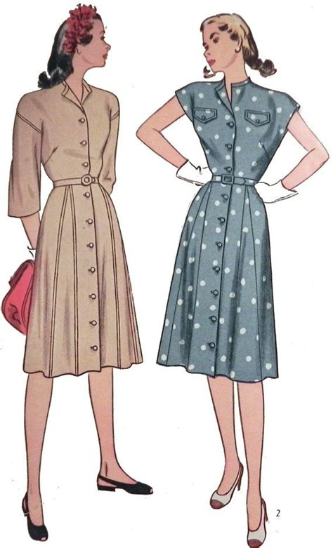 sewing pattern button up dress 1940s button front dress sewing pattern simplicity 1646