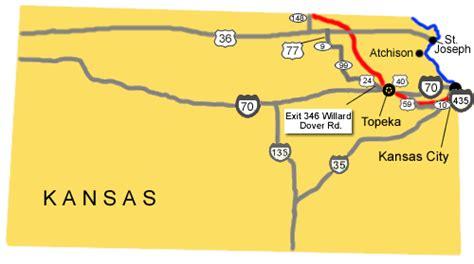 map of oregon trail through kansas auto tour route kansas oregon national historic trail