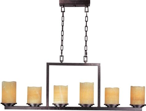 Rustic Candle Chandelier Six Light Rustic Candle Glass Candle Chandelier Transitional Chandeliers By We