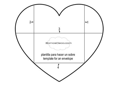 printable heart envelope template plantilla para hacer un sobre template for an envelope