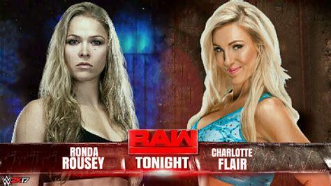charlotte flair vs rousey ronda rousey vs charlotte flair wwe wrestlemania 34