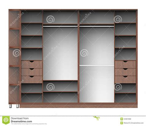 White Wardrobe With Shelves Wardrobe With Shelves Stock Illustration Image Of
