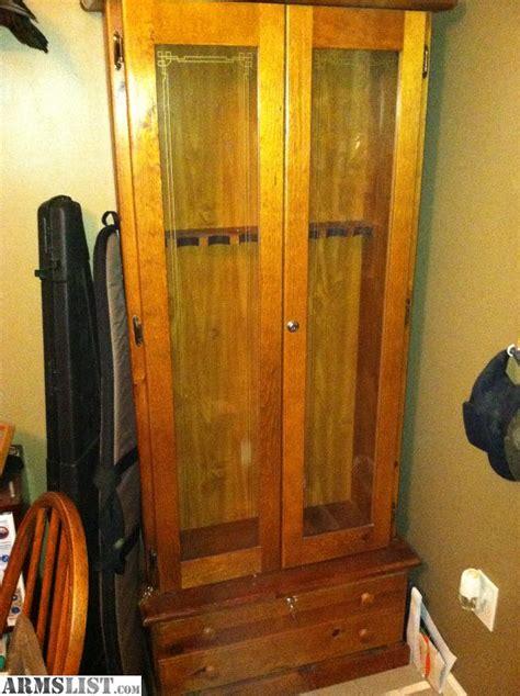 armslist for sale trade 8 gun wood gun cabinet