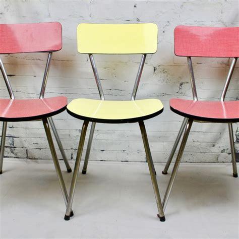 chaises formica chaise de cuisine en formica pied compas vintage