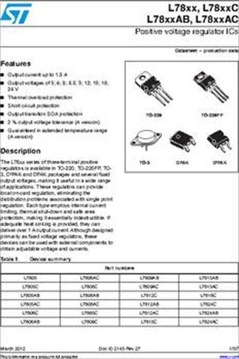 transistor l7812cv l7812cv dg datasheet specifications lead free status lead free rohs