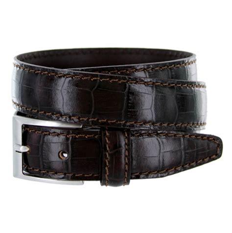 9536 30 men's italian alligator embossed calfskin leather
