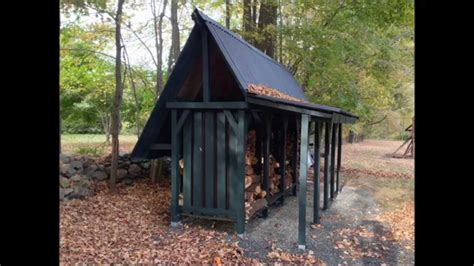 Time Shed by How To Build A Firewood Storage Shed Time Lapse
