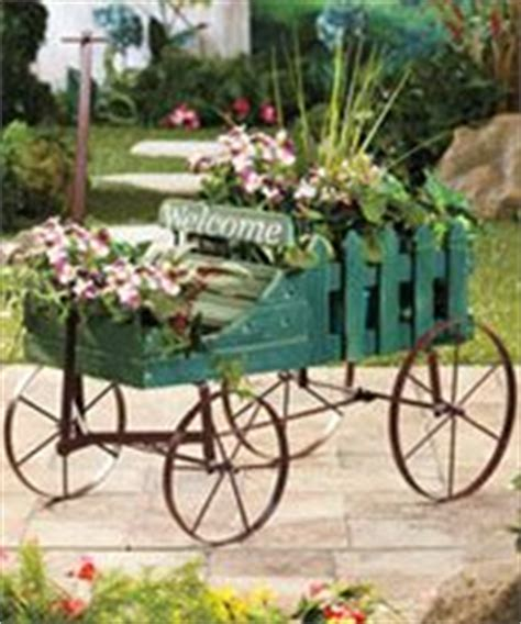 Wagon Flower Planter by Wagon Planter On Wheelbarrow Garden