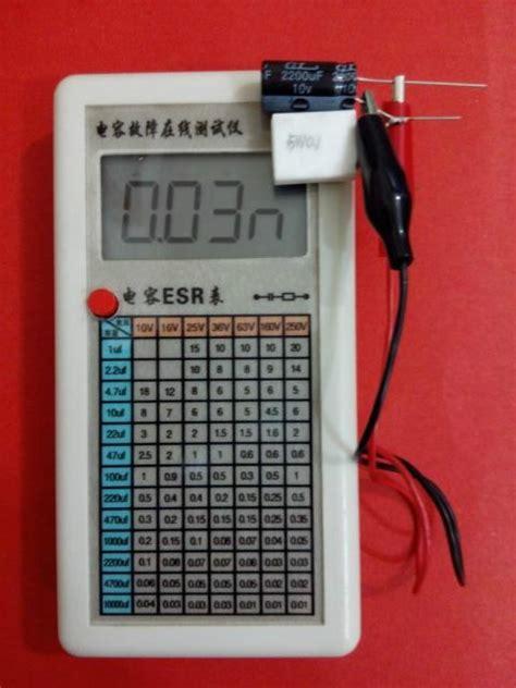 capacitor esr failure lcd capacitive esr equivalent series resistance meter test in circuit ebay