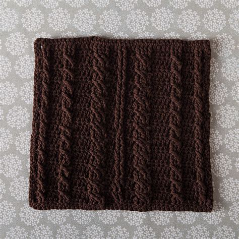 cable knit dishcloth pattern free crochet dishcloth pattern cabled spa cloth
