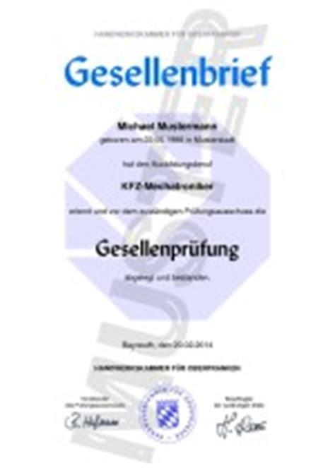 Kfz Lackierer Aachen by Gesellenbriefe Einfach Kaufen Gesellenbrief Kaufen
