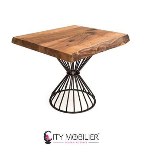 plateau table restaurant professionnel table en bois avec pied central pleyel city mobilier