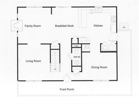 colonial open floor plans log modular home floor plans modular open floor plan large