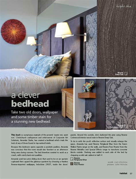 New From Anthropologie Make A Bedhead by Habitat Magazine Published By Resene Paints