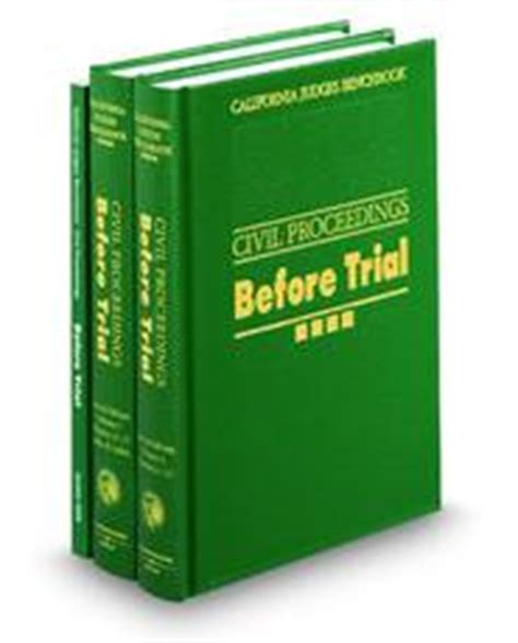 judges bench book california judges benchbook civil proc legal solutions